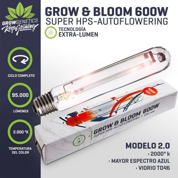Ampolleta 600W Grow & Bloom - Grow Genetics - 1