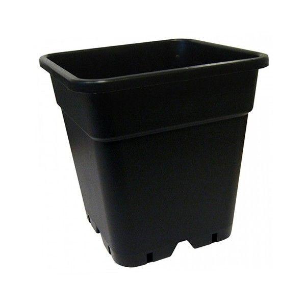 Maceta Cuadrada Negra 18L (30X30X30cms) - 1