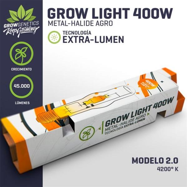Ampolleta 400w MH Extra Lumen - Grow Genetics - 1