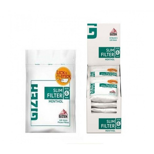Filtro Mentolado Slim - Gizeh - 1