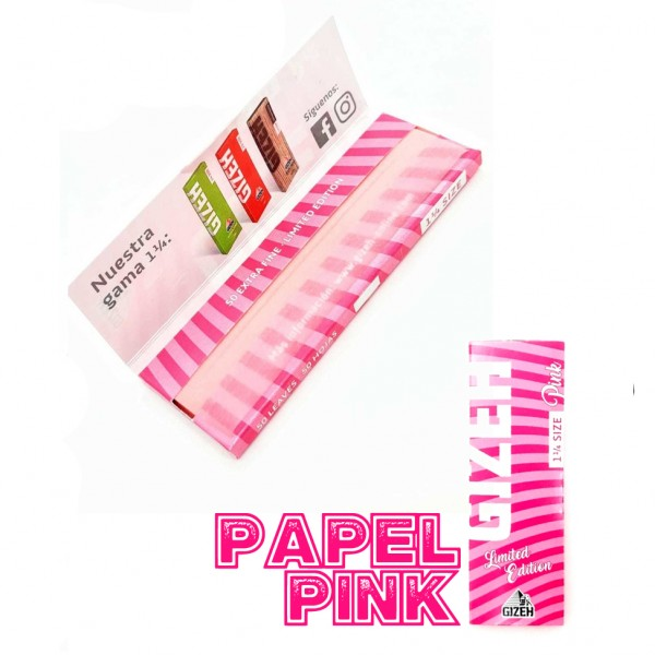 Papel Extra Fine Pink 1 1/4 - Gizeh - 1
