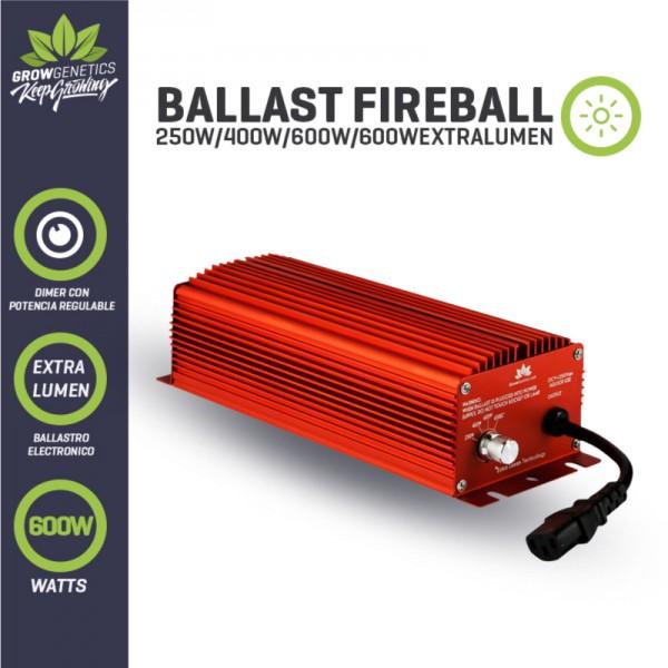 Balastro Electrónico Regulable Extra Lumen 600w Fireball - Grow Genetics - 1