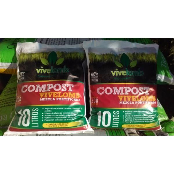 Compost Mezcla Fortificada 10L - Vivelomb - 1